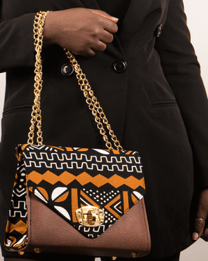 Mode africaine femme 2020 sac a main carre en wax - Afrhika store boutique à toulouse