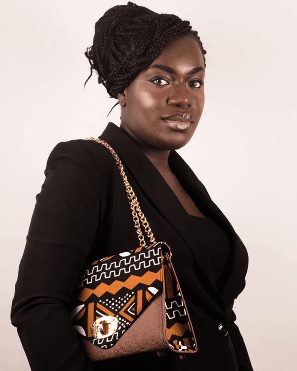 Mode africaine femme 2020 sac a main carre en wax - Afrhika store boutique à toulouse