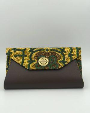 Mode africaine femme 2020 pochette large bandouliere en wax - Afrhika store boutique à toulouse