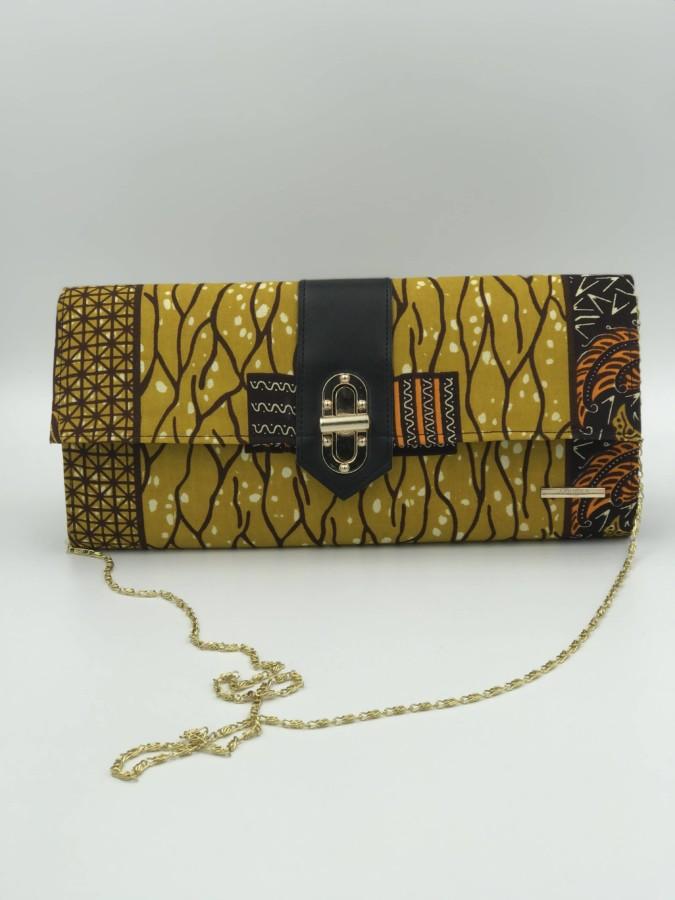 Mode africaine femme 2020 pochette bandouliere en wax - Afrhika store boutique à toulouse