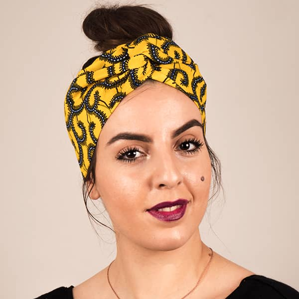 Mode africaine femme 2020 bandeau head band en wax - Afrhika store boutique à toulouse