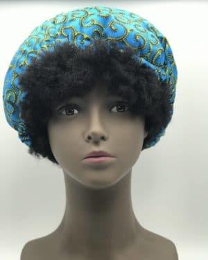 Mode africaine femme 2020 bonnnet satin en wax - Afrhika store boutique à toulouse