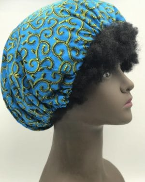 Mode africaine femme 2020 bonnnet satin en wax - Afrhika store boutique à toulouse