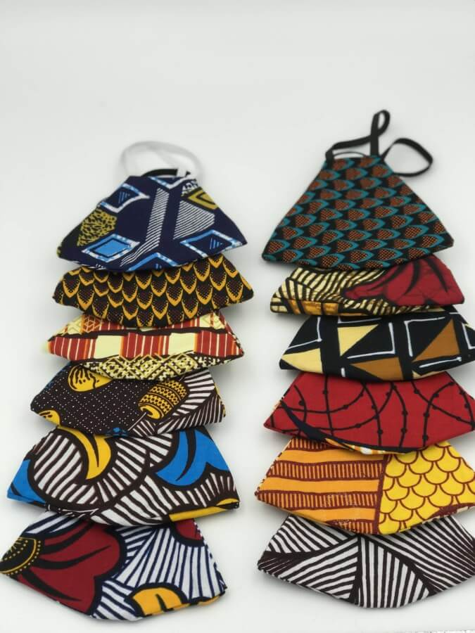 Mode africaine homme 2020 masque de protection covid19 en wax - Afrhika store boutique à toulouse