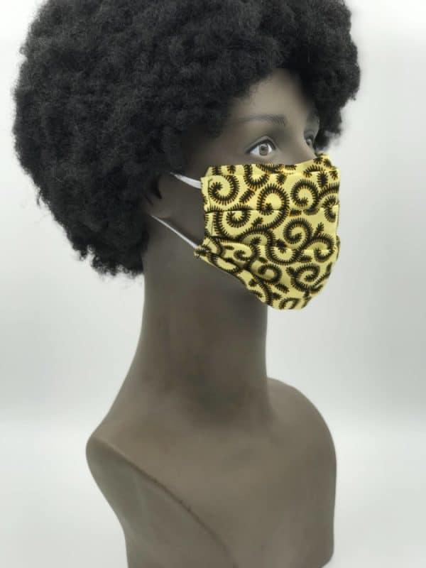 Mode africaine homme 2020 masque de protection covid19 en wax - Afrhika store boutique à toulouse