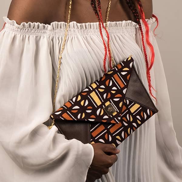 Mode africaine femme 2020 pochette enveloppe en wax - Afrhika store boutique à toulouse