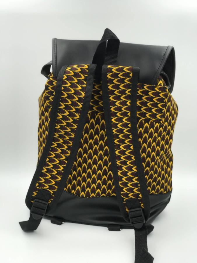 Mode africaine homme 2020 sac a dos en wax - Afrhika store boutique à toulouse