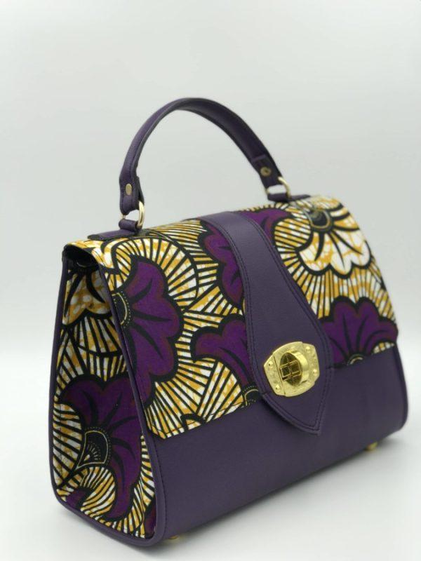 Mode africaine femme 2020 sac a mai bowling en wax - Afrhika store boutique à toulouse
