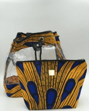 Mode africaine femme 2020 sac seau transparent en wax - Afrhika store boutique à toulouse