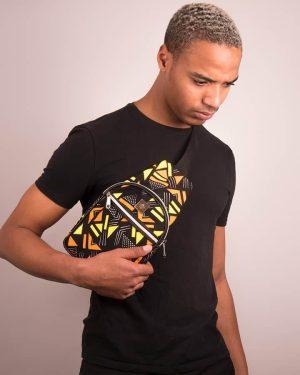 Mode africaine homme 2020 sacoche en wax - Afrhika store boutique à toulouse