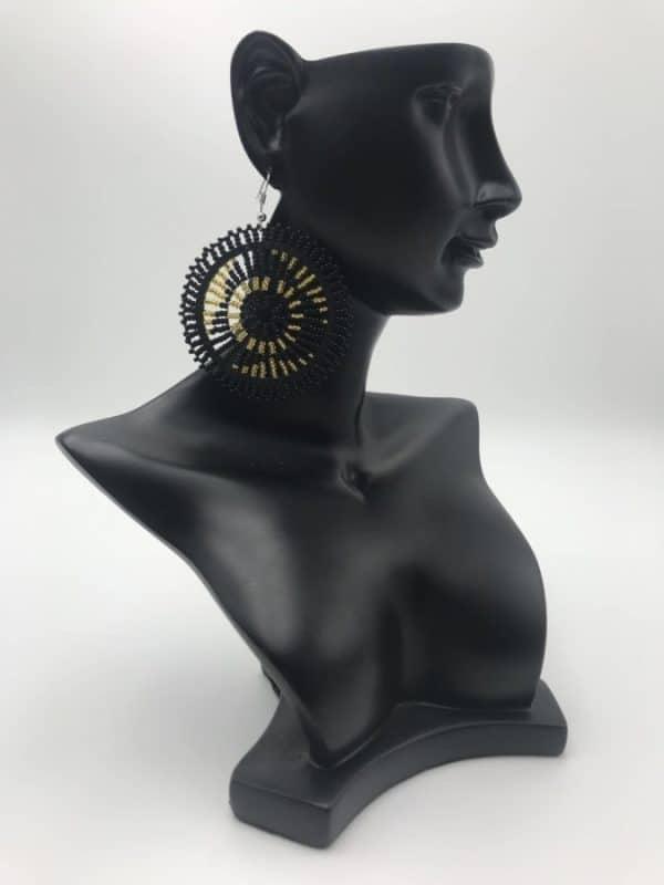 Mode africaine femme 2020 boucles d oreilles en perles - Afrhika store boutique à toulouse