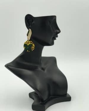 Mode africaine femme 2020 boucles d'oreilles en wax - Afrhika store boutique à toulouse