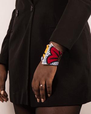 Mode africaine femme 2020 bracelet en wax - Afrhika store boutique à toulouse