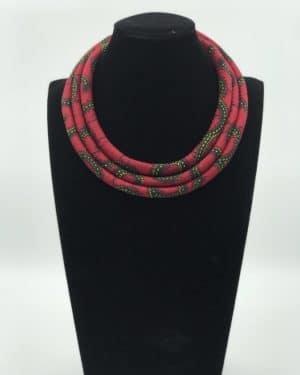 Mode africaine femme 2020 collier en wax - Afrhika store boutique à toulouse