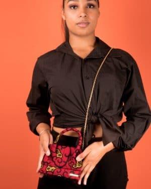 Mode africaine femme 2020 sac minaudière wax - Afrhika store boutique à toulouse