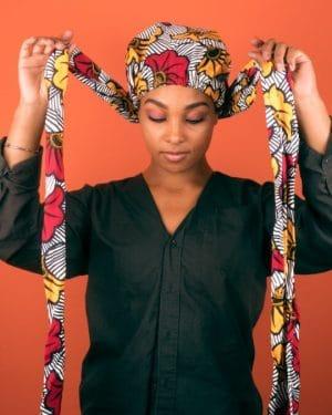Mode africaine femme 2020 turban en wax - Afrhika store boutique à toulouse