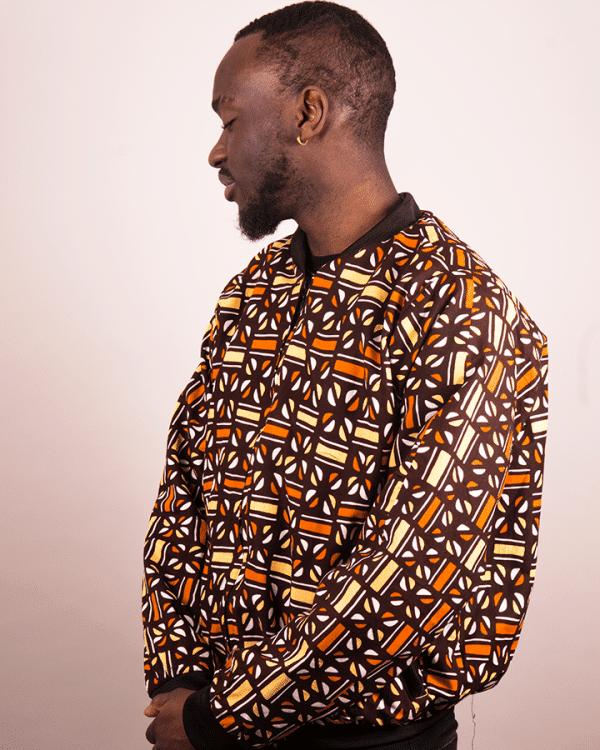 Mode africaine homme 2020 blouson bombers en wax - Afrhika store boutique africaine à toulouse