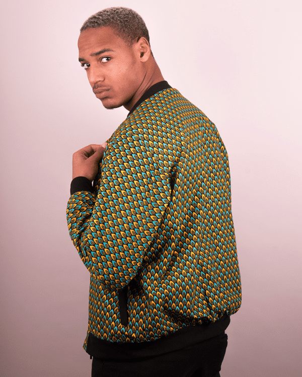 Mode africaine homme 2020 blouson bombers en wax - Afrhika store boutique africaine à toulouse