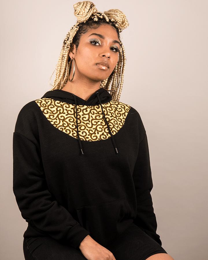 Mode africaine femme 2020 sweat à capuche hoodie en wax - Afrhika store boutique africaine à toulouse
