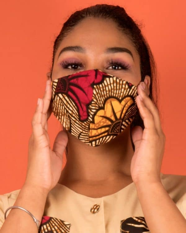 Mode africaine femme 2020 masques covid en wax - Afrhika store boutique à toulouse