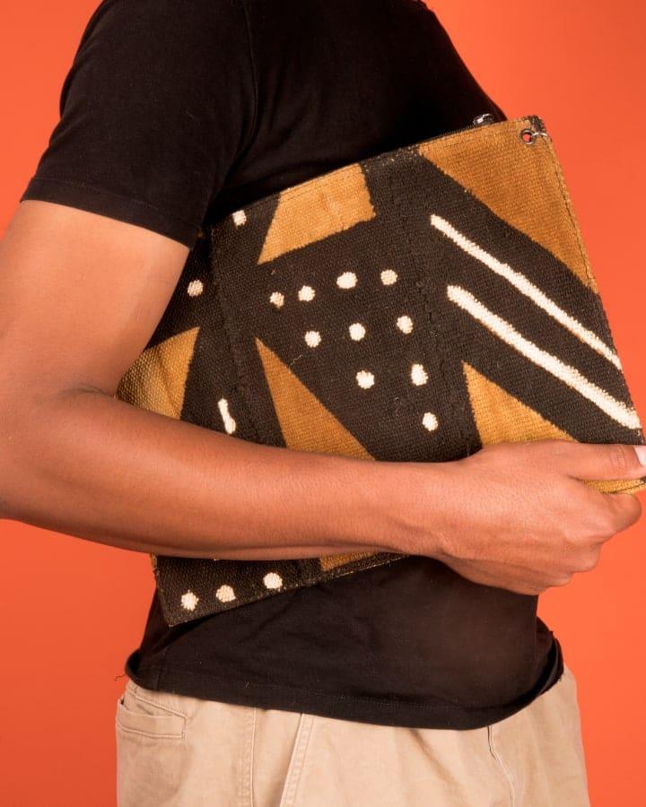 Mode africaine homme 2020 pochette plate en wax - Afrhika store boutique à toulouse