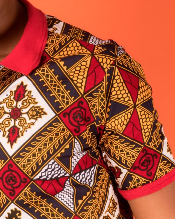 Mode africaine homme 2020 polo en wax - Afrhika store boutique à toulouse