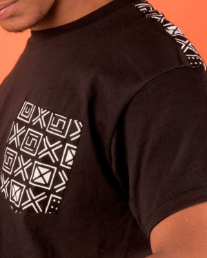 Mode africaine homme 2020 t-shirt en wax - Afrhika store boutique à toulouse