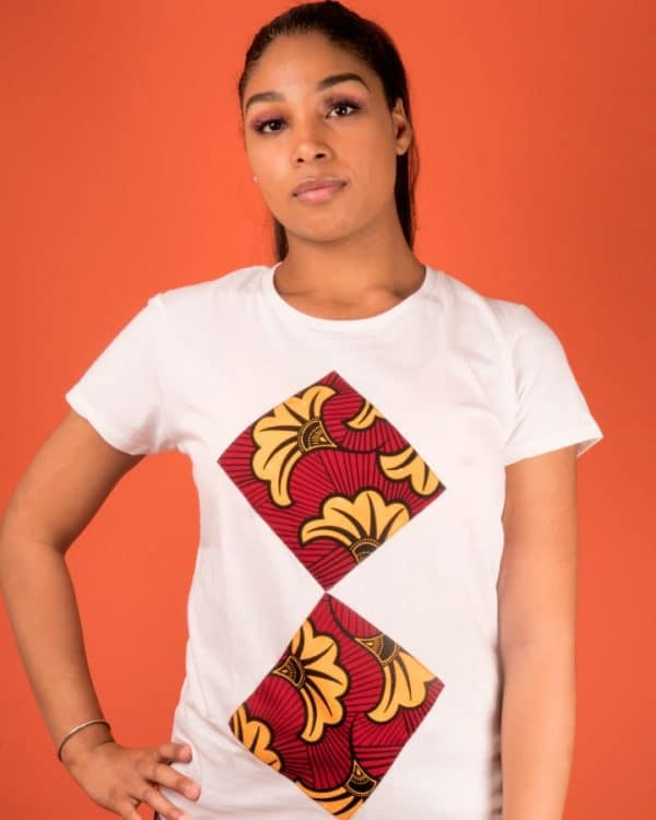Mode africaine femme 2020 t-shirt en wax - Afrhika store boutique à toulouse