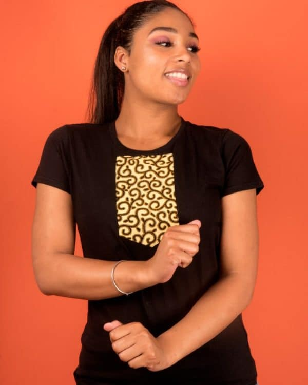 Mode africaine femme 2020 t-shirt en wax - Afrhika store boutique à toulouse
