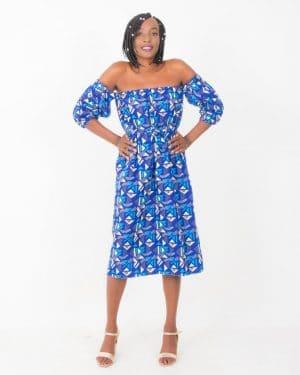 Mode africaine femme 2020 robe en wax intégral - Afrhika store boutique à toulouse