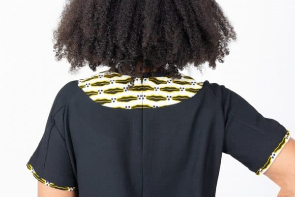 Mode africaine femme 2020 robe col en wax - Afrhika store boutique à toulouse