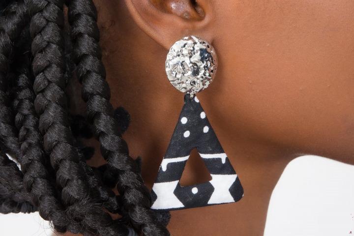 Mode africaine femme 2020 bijoux boucles d oreilles en wax - Afrhika store boutique à toulouse