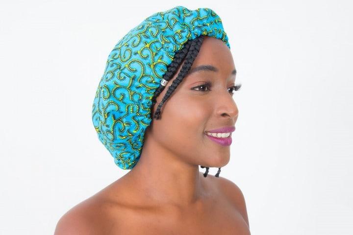 Mode africaine femme 2020 bonnet satin en wax - Afrhika store boutique à toulouse