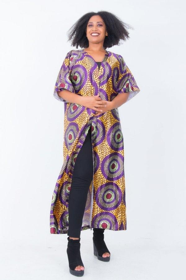 Mode africaine femme 2020 kimono en wax - Afrhika store boutique à toulouse