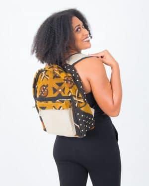 Mode africaine femme 2020 sac à dos en bogolan - Afrhika store boutique à toulouse