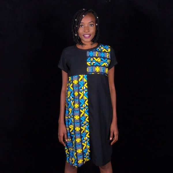 Mode africaine femme 2020 robe en wax - Afrhika store mode africaine wax à toulouse