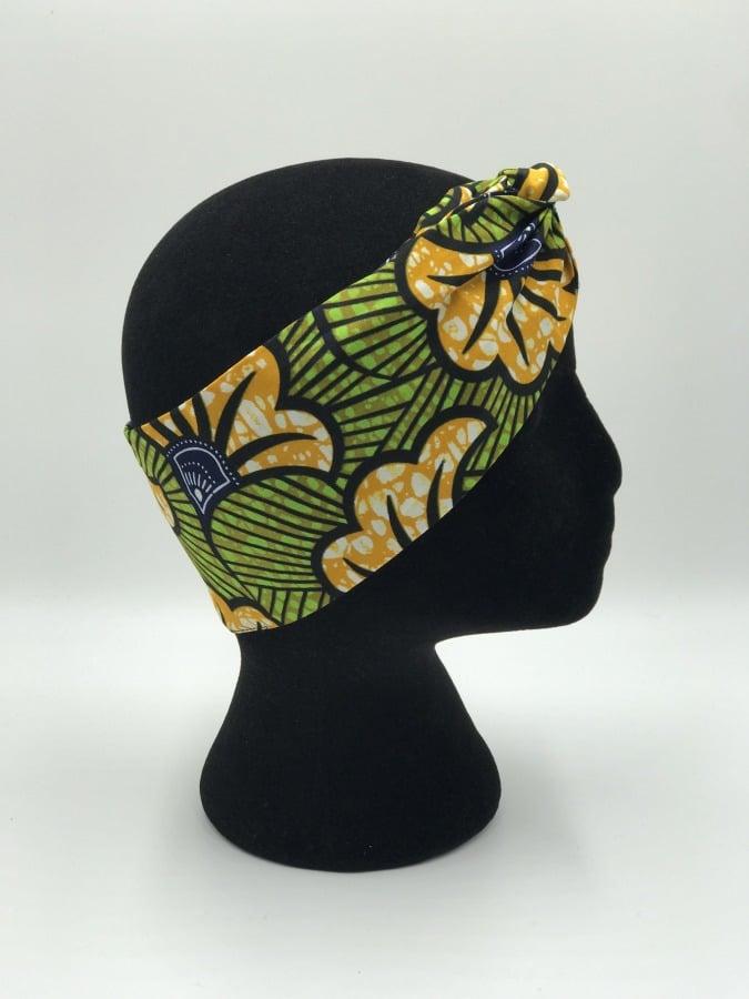 Mode africaine femme 2021 head band bandeau en wax - Afrhika store boutique à toulouse