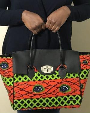 Mode africaine femme 2021 sac cabas en wax - Afrhika store boutique à toulouse