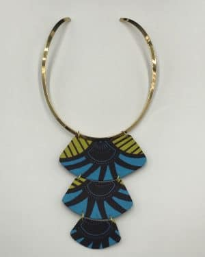 Mode africaine femme 2021 collier en wax - Afrhika store boutique à toulouse
