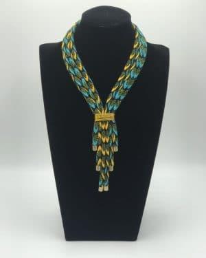 Mode africaine femme 2021 collier en wax - Afrhika store boutique à toulouse