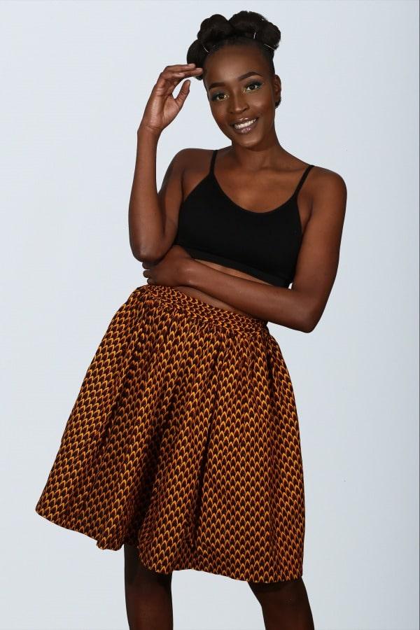 Mode africaine femme 2021 jupe en wax - Afrhika store boutique à toulouse