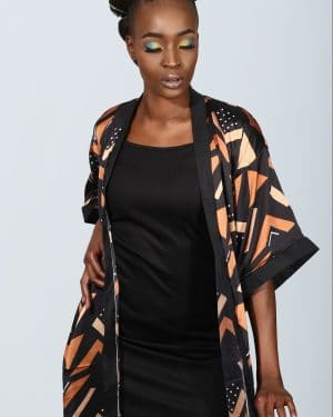 Mode africaine femme 2021 kimono en soie motifs wax - Afrhika store boutique à toulouse