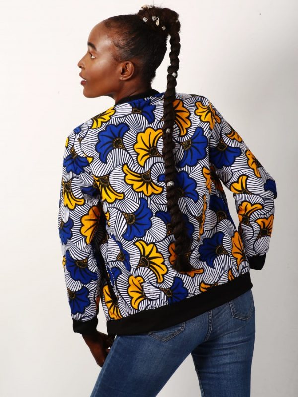 Mode africaine femme 2021 bombers en wax - Afrhika store boutique mode africaine à toulouse